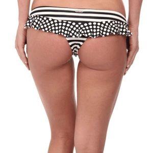 BODY GLOVE Striped/Polka Dot Thong Bikini
